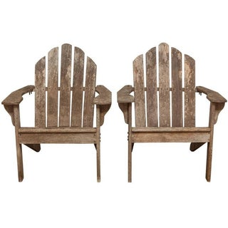 Adirondack Chairs & Ottomans - A Pair