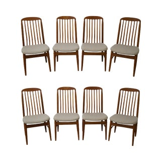Benny Linden Solid Teak Dining Chairs - Set of 8