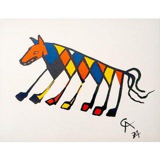 Alexander Calder Beastie Lithograph