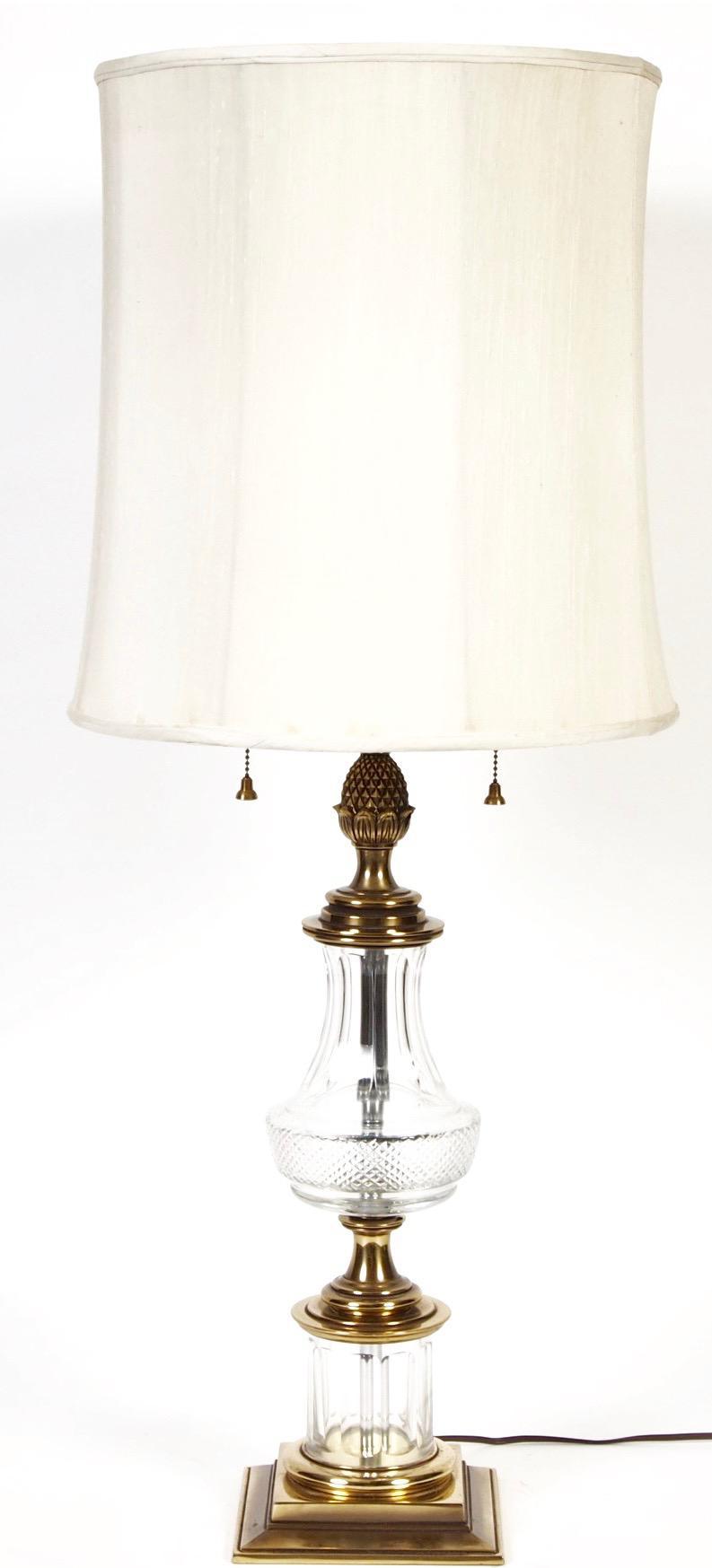 Stiffel Cut Crystal U0026 Brass Table Lamp   Image 2 ...