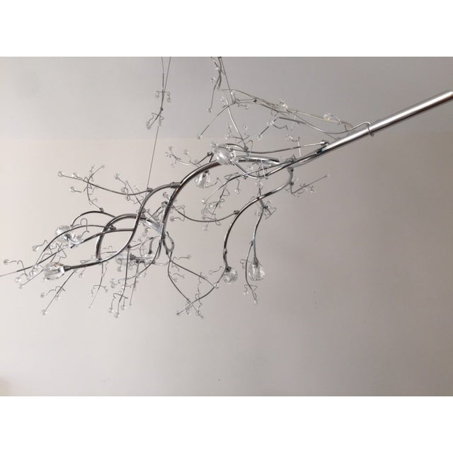 Silver Crystal Branch Chandelier - Image 3 of 5