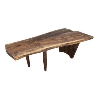 New Hope Studio Nakashima Style Free Edge Black Walnut Coffee Table