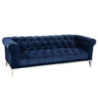 Navy Blue Velvet Sophie Chesterfield Sofa