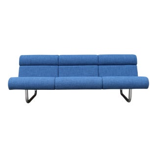 Modern Chrome Steelcase Sofa