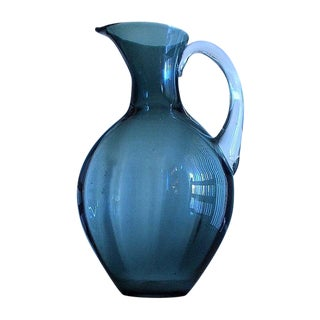 Blenko Charcoal Pitcher