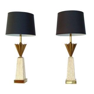 Hollywood Regency Stiffel Lamps - Pair