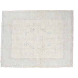 """Distressed Oushak Square Carpet - 5'9"""" x 7'2"""""""