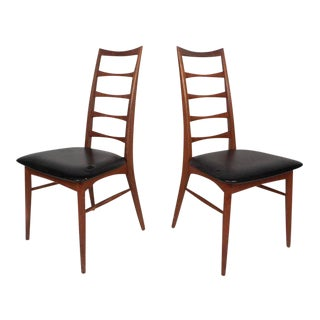 Danish Vintage Modern Dining Chairs by Koefoeds Hornslet - a Pair