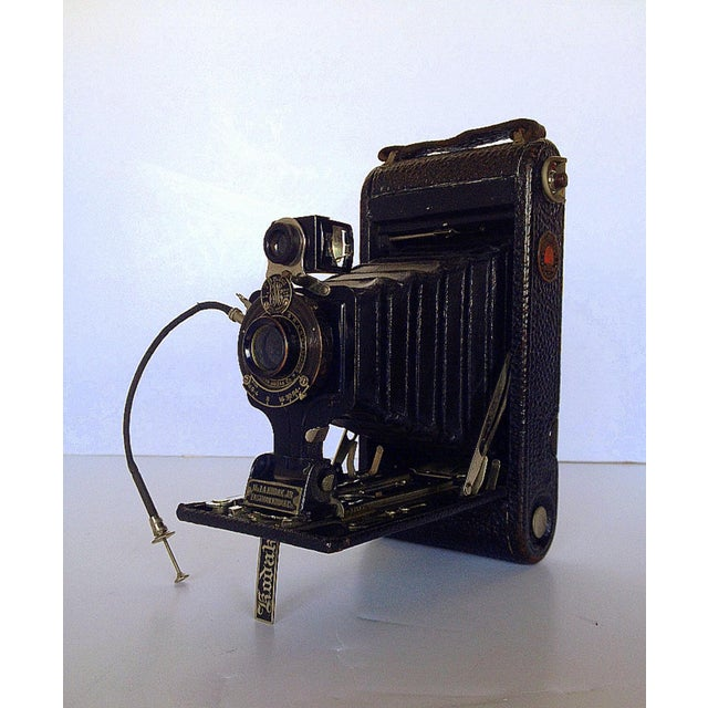 Image of Antique No. 1-A Kodak Jr. Camera & Case