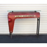 Image of Glass Top Tractor Console or Hall Table