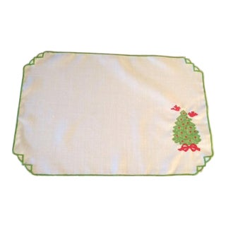 Appliquéd Christmas Placemats - Set of 8