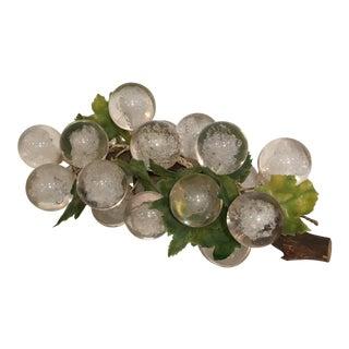 Vintage White Lucite Grapes