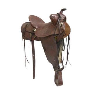 Beautifully  Hand-Tooled Western Saddle
