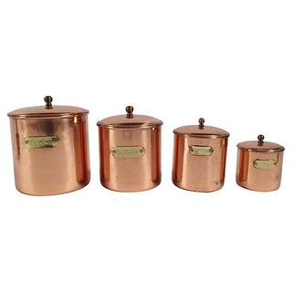 Copper Kitchen Canisters - Set of 4