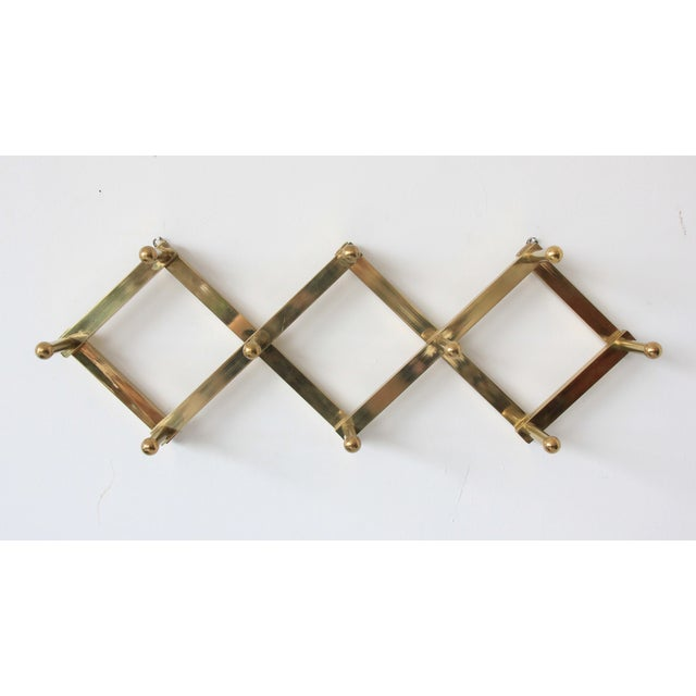 Vintage Mid-Century Accordian Brass Wall Hook - Image 4 of 6