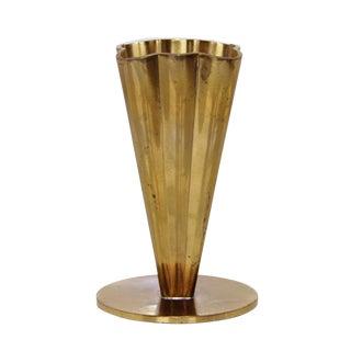 Scandinavian Modern Brass Vase