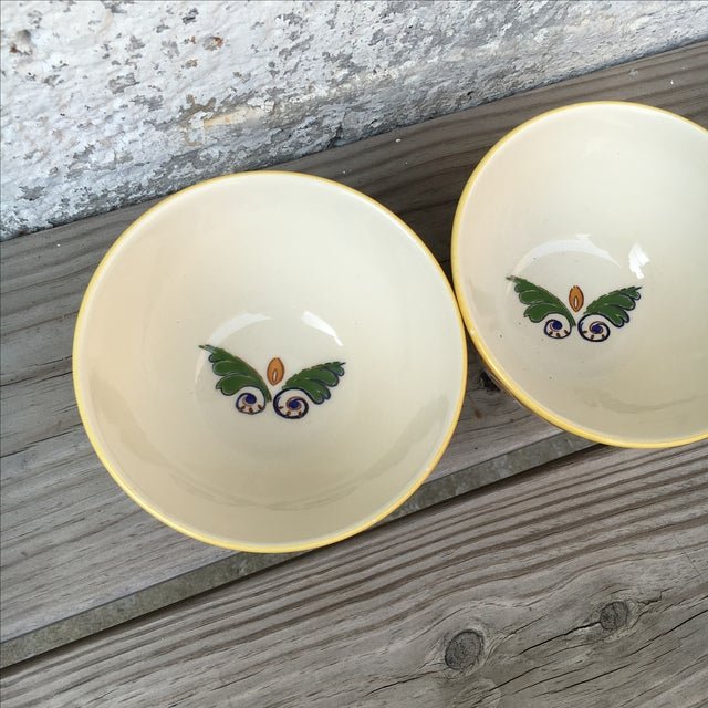 Hand Made Painted Bowls - Pair - Image 5 of 8