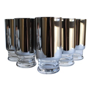 Mid Century Silver Glasses - Set of 6