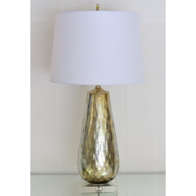 Vintage Murano Gold Mercury Silver Lamp - Image 2 of 4