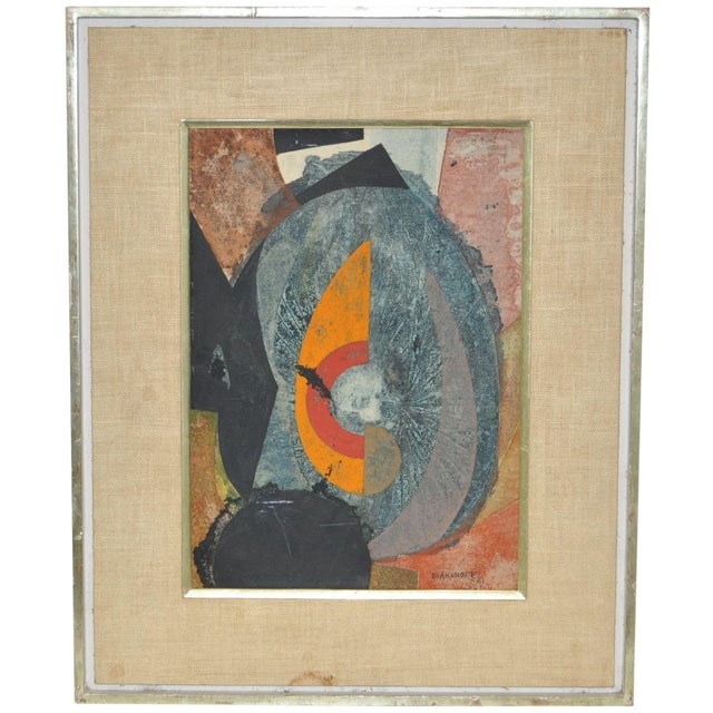 Serge Diakonoff Abstract Mixed Media Painting - Image 1 of 5