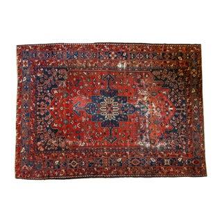 "Vintage Distressed Bakhtiari Carpet - 8'7"" X 11'8"""