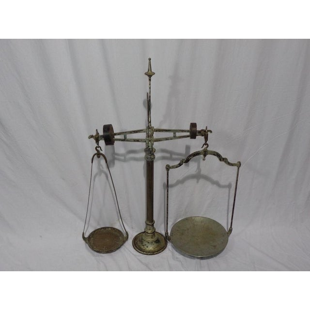 Antique French Industrial Butcher Scale - Image 3 of 8