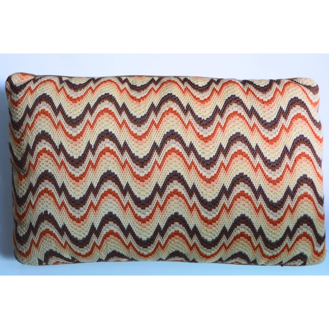 1970s Needlepoint Geometric Pillows - a Pair - Image 4 of 7