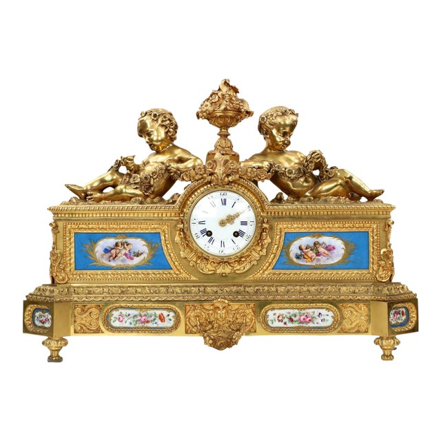 Gilt Bronze & Porcelain Mantel Clock - Image 1 of 11
