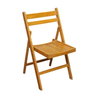 Golden Oak Folding Chair