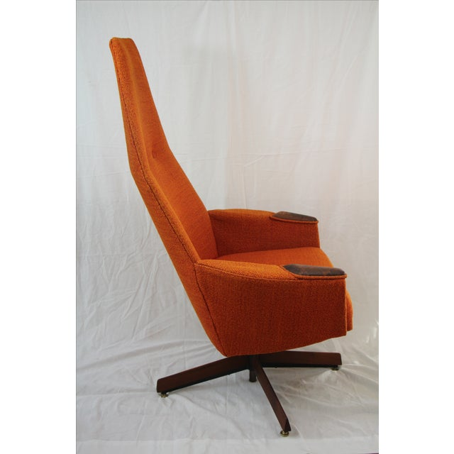 Image of Adrian Pearsall Orange Highback Lounger