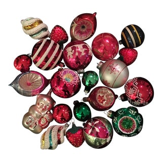 Vintage Christmas Ornaments - Set of 22