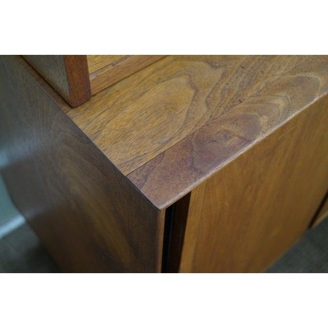 Danish Modern Style Teak Buffet Base Hutch Cabinet - Image 8 of 10