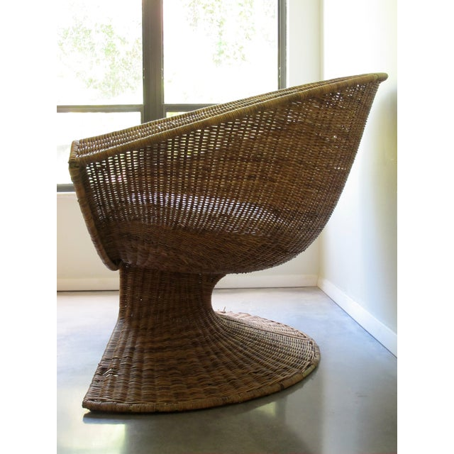 Miller Yee Fong Lotus Chair: 1960s Wicker Lounge - Image 4 of 11