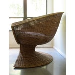 Image of Miller Yee Fong Lotus Chair: 1960s Wicker Lounge