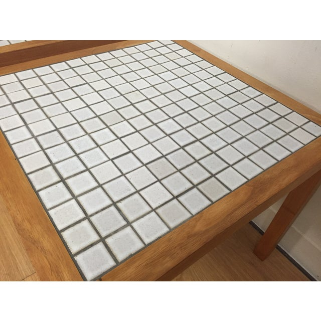 MCM Teak & Tile End Tables - A Pair - Image 6 of 7