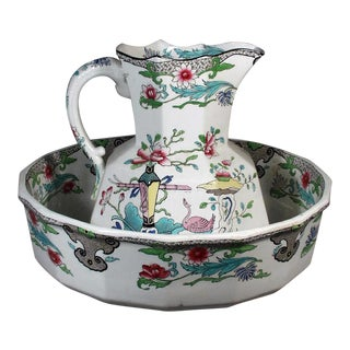 Mason's Ironstone Chinoiserie Jug and Basin.