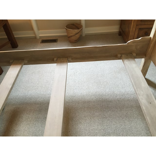 Farmhouse Collection Queen Size Canopy Bed Frame - Image 6 of 7