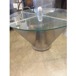 Image of Aviator Riveted Metal & Glass Coffee Table