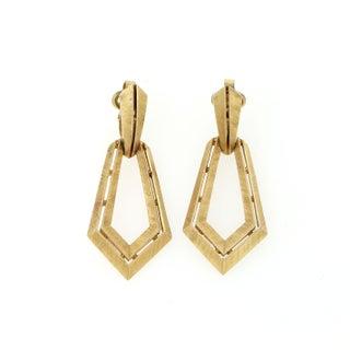 Gold Trifari Earrings