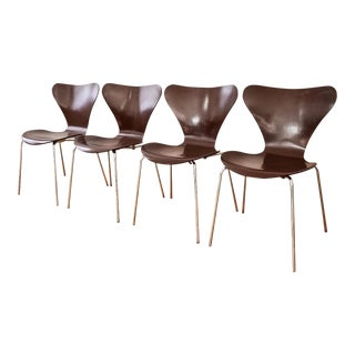 Mid-Century Arne Jacobsen for Fritz Hansen Series 7 Chairs - Set of 4