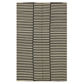 Striped Indian Kilim Rug - 4′11″ × 8′3″