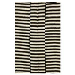 Striped Indian Kilim Rug - 4′11″ × 8′3″