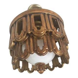 Gilt Light Fixture