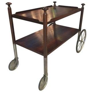 Finn Juhl Style Rosewood Bar Cart
