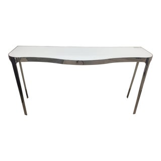 Bernhardt Orly Modern Glass Top Console Table