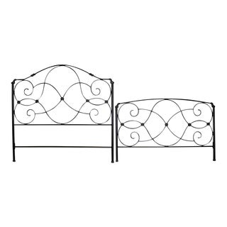 Black Metal Bed Frames - A Pair