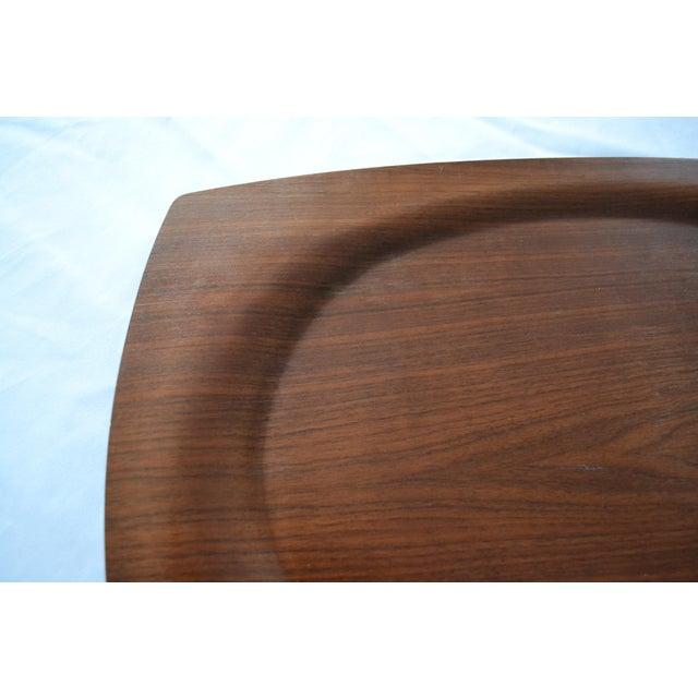 Haskelite walnut veneer bent plywood tray chairish