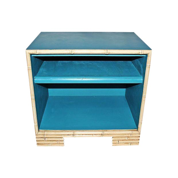 Image of Painted Faux-Bamboo End Table