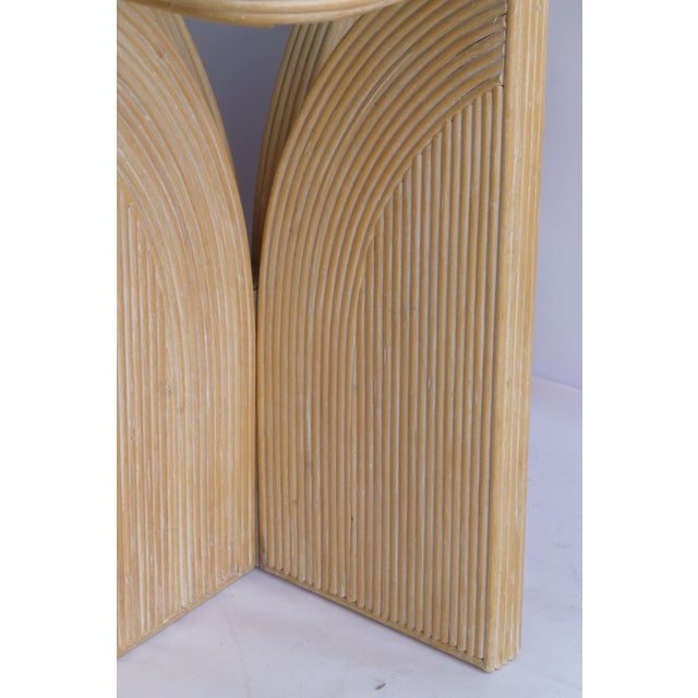 Mid-Century Modern Split Reed Table - Image 8 of 9