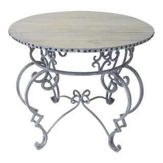 Wrought Iron Round Breakfast Table